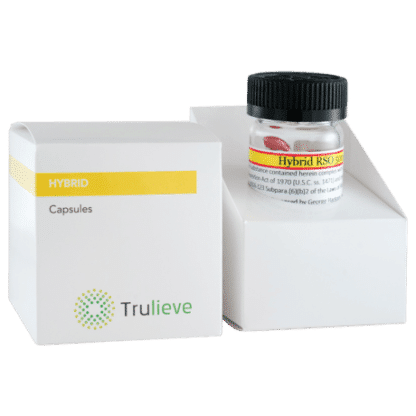 Trulieve Capsule Bottle 25ct 50mg Hybrid